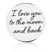 Moon & Back' Coin Pendant Insert in Sterling Silver