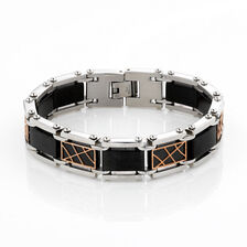 Online Exclusive - Men's Patterned Bracelet in Stainless Steel