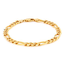 "23cm (9.5"") Men's Figaro Bracelet in 10kt Yellow Gold"