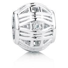 Diamond Set Patterned Charm