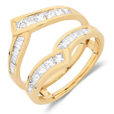 Enhancer Ring with 0.95 Carat TW of Diamonds in 14kt Yellow Gold