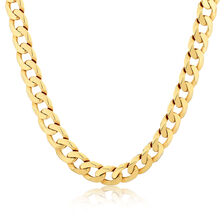"55cm (22"") Men's Curb Chain in 10kt Yellow Gold"