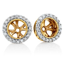 Earring Enhancers with 0.21 Carat TW of Diamonds in 10ct Yellow Gold