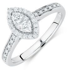 Promise Ring with 0.33 Carat TW of Diamonds in 10kt White Gold