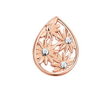 Diamond Set Daisy Mini Coin Pendant in 10ct Rose Gold