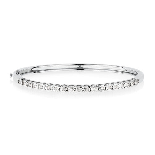 Bangle with 0.20 Carat TW of Diamonds in Sterling Silver