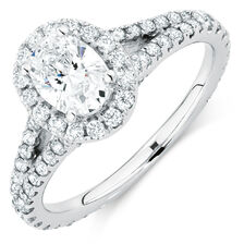 Michael Hill Designer Allegro Engagement Ring with 1.47 Carat TW of Diamonds in 14kt White Gold