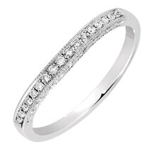 Wedding Band with Diamonds in 14kt White Gold