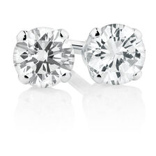 Stud Earrings with a 1/4 Carat TW of Diamonds in 10kt White Gold