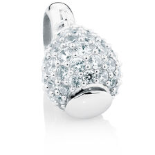 Cubic Zirconia & Sterling Silver Wild Hearts Dangle Charm
