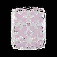 Pale Pink Fleur De Lis Enamel Charm
