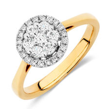 Engagement Ring with a 1/2 Carat TW of Diamonds in 18ct Yellow & White Gold