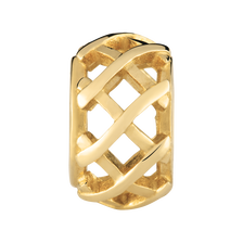 10kt Yellow Gold Patterned Charm