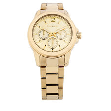 Ladies Multi-Function Watch in Gold Tone Stainless Steel