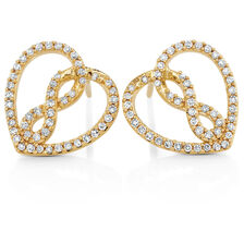 Infinitas Stud Earrings with 1/3 Carat TW of Diamonds in 10ct Yellow Gold