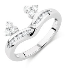 Enhancer Ring with 0.33 Carat TW of Diamonds in 14kt White Gold