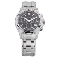 Men's Chronograph Watch with Diamonds in Stainless Steel