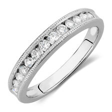Wedding Band with 3/8 TW of Diamonds in 14kt White Gold