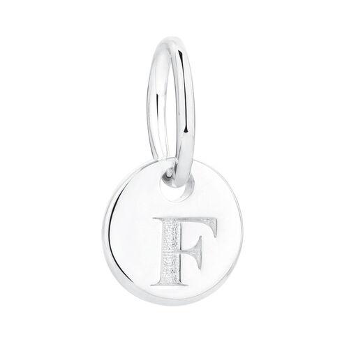 F' Mini Pendant in Sterling Silver