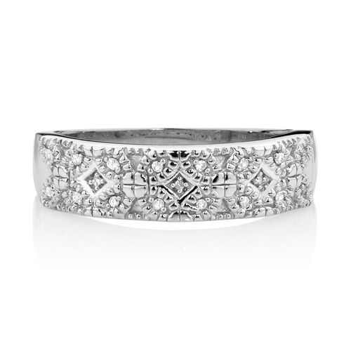 Online Exclusive - Ring with Diamonds in Sterling Silver