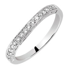 Wedding Band with 0.20 Carat TW of Diamonds in 14ct White Gold