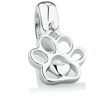 Dog Paw Dangle Charm in Sterling Silver