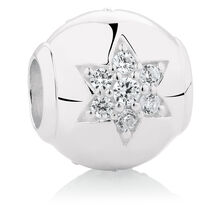 Star Charm with Cubic Zirconia in Sterling Silver