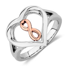 Infinitas Ring in 10ct Rose Gold & Sterling Silver