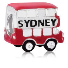 Sterling Silver Double Decker Bus Charm
