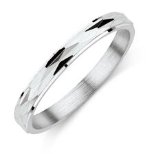 Cross Slash Ring in Sterling Silver