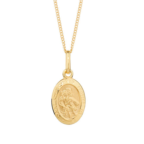 St Christopher Pendant in 10ct Yellow Gold