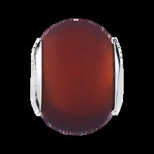 Brown Matte Murano Glass Charm
