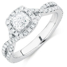 Michael Hill Designer Adagio Engagement Ring with 1.49 Carat TW of Diamonds in 14kt White Gold