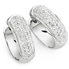 Hoop Earrings with 1/4 Carat TW of Diamonds in 10kt White Gold