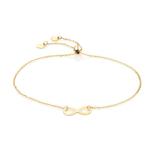Adjustable Infinity Bracelet in 10ct Yellow Gold