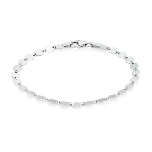 "19cm (7.5"") Oval Disc Bracelet in Sterling Silver"