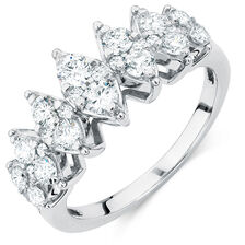 Ring with 0.95 Carat TW of Diamonds in 10ct White Gold