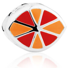 Orange & Red Enamel Charm