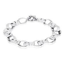 "19cm (7.5"") Belcher Bracelet in 10ct White Gold"