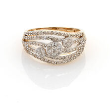 Online Exclusive - Dress Ring with 3/4 Carat TW of Diamonds in 10ct Yellow Gold