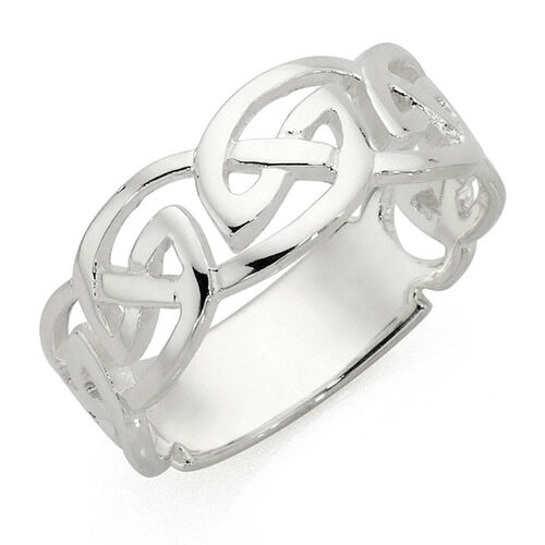 s celtic ring in sterling silver
