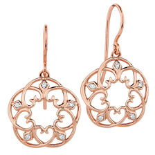 Drop Earrings with Diamonds in 10ct Rose Gold