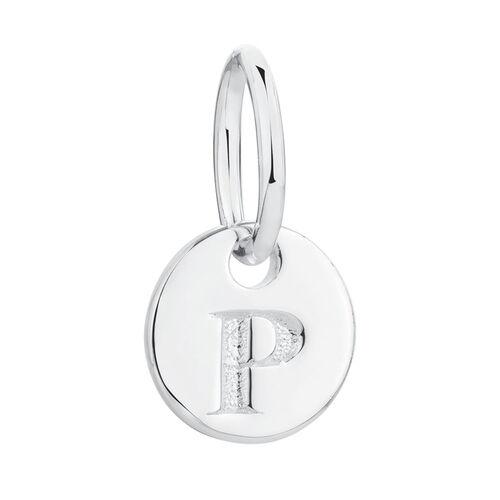 P' Mini Pendant in Sterling Silver