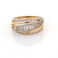 Online Exclusive - Dress Ring with 1/2 Carat TW of Diamonds in 10ct Yellow Gold