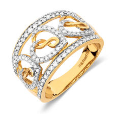 Infinitas Ring with 1/2 Carat TW of Diamonds in 10ct Yellow Gold