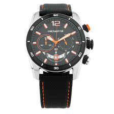 Men's Chronograph Watch in Black Stainless Steel & Resin