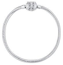 "Sterling Silver Filigree Clasp 17cm (7"") Charm Bracelet"