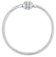 "Sterling Silver Filigree Clasp 21cm (8.5"") Charm Bracelet"