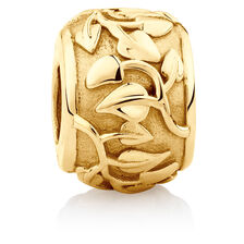 Leaf Design Charm in 10kt Yellow Gold