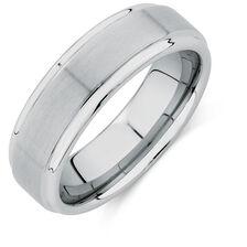 Men's Ring in White Tungsten
